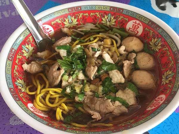 Pork soup at Koh Samui, Thailand (local food)