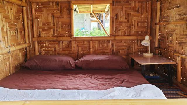 Inside of hut