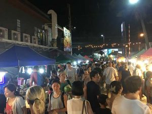 Night market in Koh Samui, Thailand