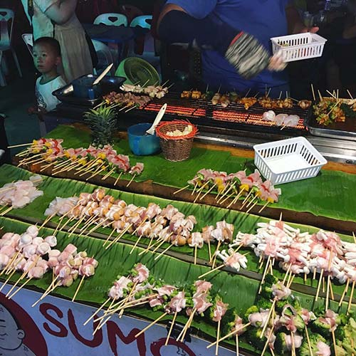 Night market Koh Samui barbecue