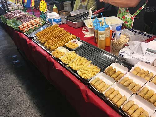 Night market Koh Samui food