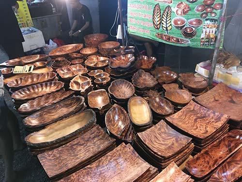 Night market Koh Samui mango wood