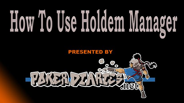How to use Holdem manager poker HUD