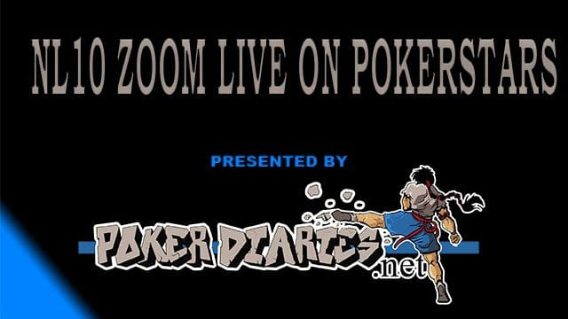 NL10 Zoom on Pokerstars – Live play video